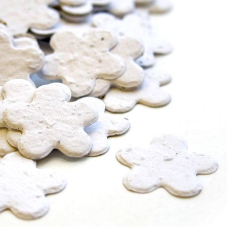 Seed Confetti (White Flower Seed Confetti - Approx. 350)