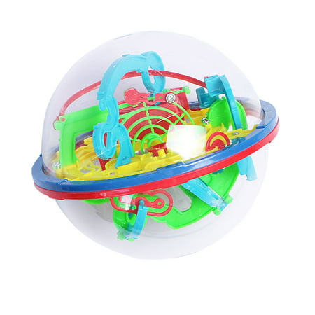 100 Levels 3D Magic Maze Ball Intellect Rolling Ball Puzzle Game Brain Teaser Bay Kids Preschool Toys - Brain Balls