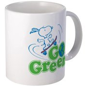 CafePress Snoopy Go Green Mug Unique Coffee Mug, Coffee Cup CafePress by