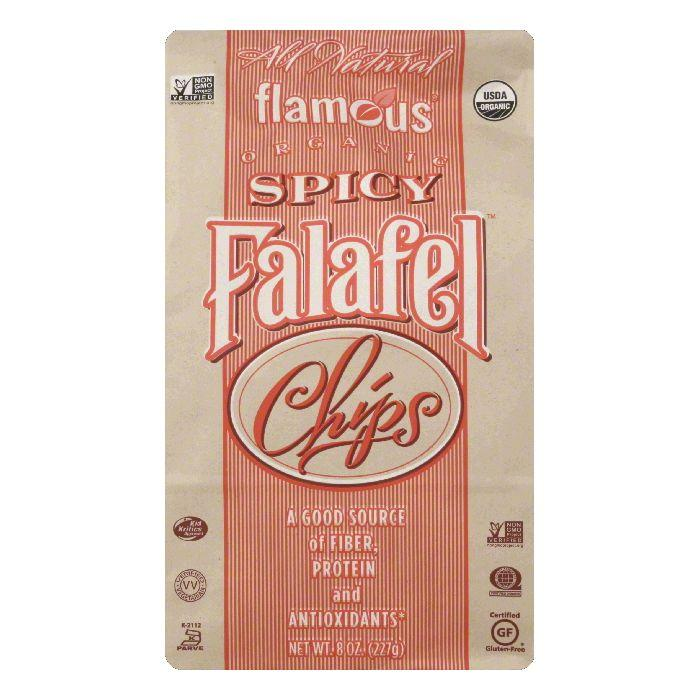 Flamous Brands Inc Organic Spicy Falafel Chip, 8 OZ (Pack of 12)