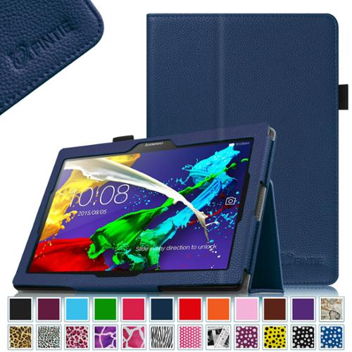 Lenovo Tab 2 A10-70 10.1-Inch Android Tablet Case - Fintie  Folio Fit Premium PU Leather Cover Auto Sleep/Wake, Navy
