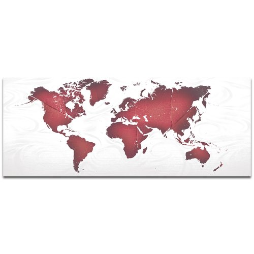 Metal Art Studio 'Red White Land and Sea' by Eric Waddington Satin-Matte Graphic Art on Metal Plaque