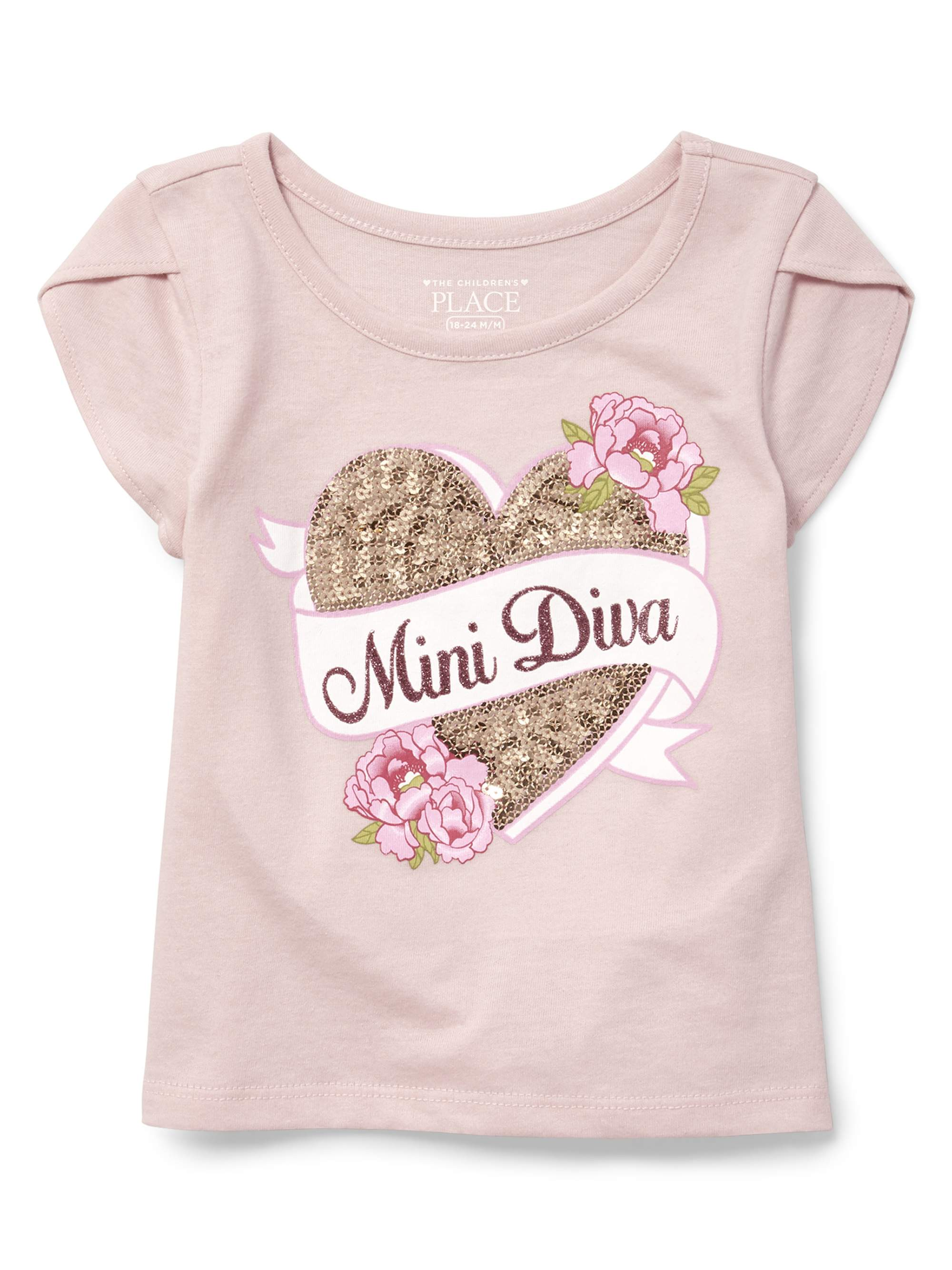 Short Sleeve Tulip Sleeve Top (Baby Girls & Toddler Girls)