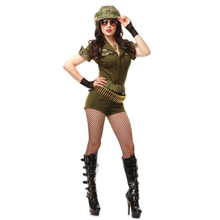 Adult Women's  Sergeant Sgt. Stunning Army Marine Costume