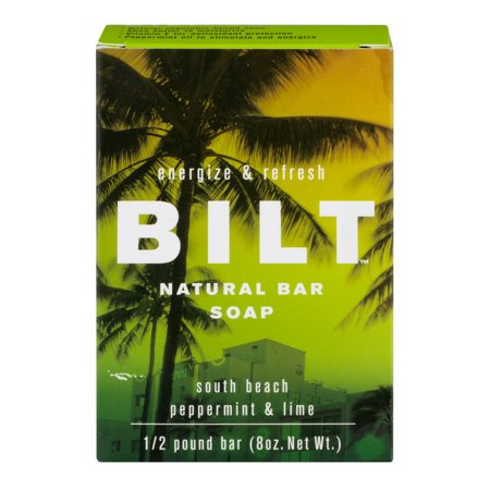 Peppermint Glycerine Soap - Bilt Natural Bar Soap South Beach / Peppermint & Lime, 8.0 OZ