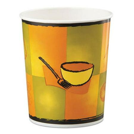 Huhtamaki 70332 32 oz Squat Paper Food Container, Street Side Design - 25 Per Bag - image 1 of 1