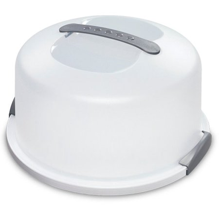Chrome Cake Server - Sterilite Cake Server in White