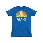 Atari Video Games Classic Yellow Sun Logo Clean Adult Ringer T-Shirt Tee