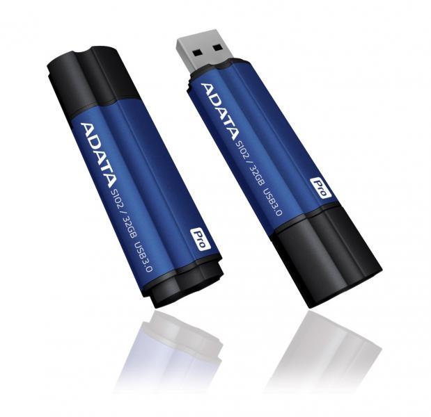 32GB AData DashDrive Elite S102 Pro USB3.0 Flash Drive (Titanium Blue)