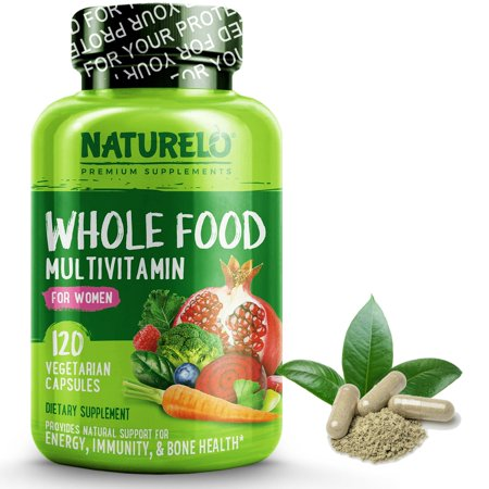 Whole Food Multivitamin for Women - Vegan/Vegetarian - 120 Capsules