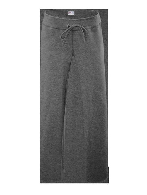 Soffe 7540V033LRG Rugby Cotton Polyster Pant for Junior, Charcoal Heather - Large