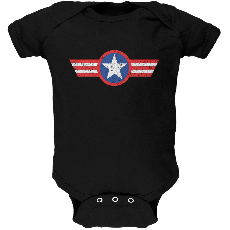 American Star Black Soft Baby One Piece