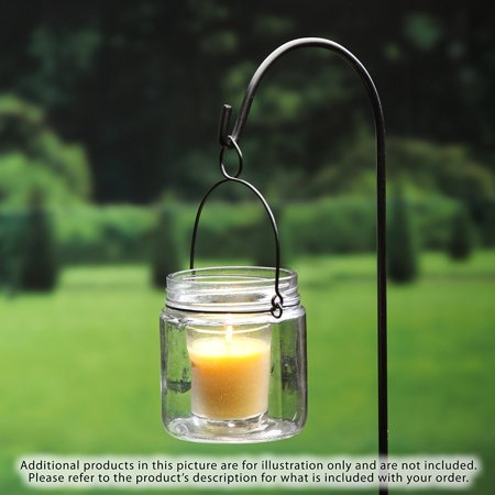 Patio Gift - Hosley ® Premium, Highly Scented Set of 8, Citronella, Rosemary, Sage, Lemon Grass blend, Essential Oils, Votive Candles in Clear Glass. Burns upto 12 hours each. Great Gift for Home, Patio, Gardens