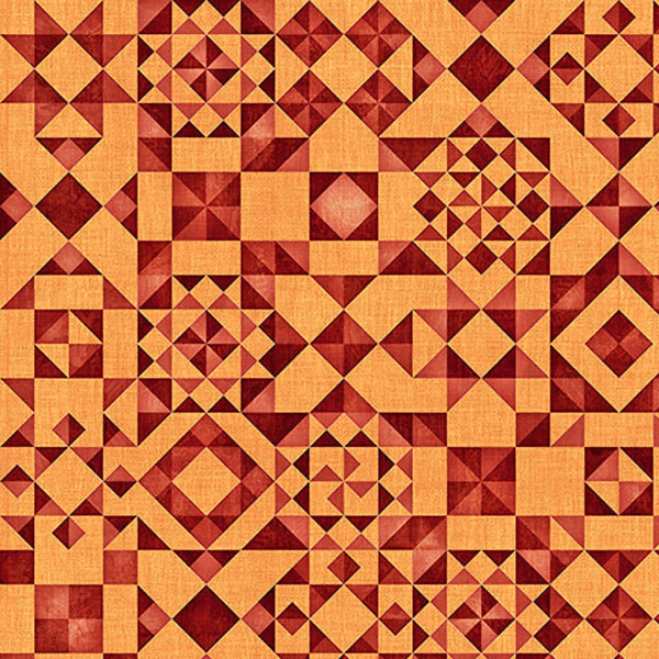Quilting Treasures Seamless Quilt Blocks Orange