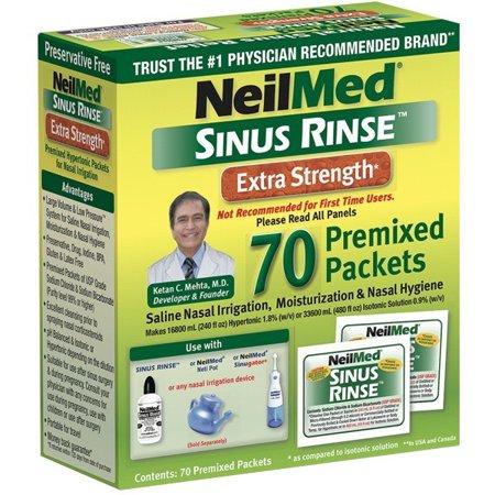 NeilMed Hypertonic Sinus Rinse Packets, 70 (Sinus Rinse Packets)