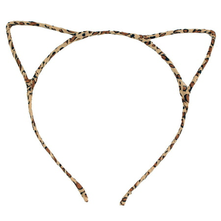 Cute Vivid Cat Ears HeadBand Hair Band for Girls Women Festival Party Cosplay, Leopard & Black