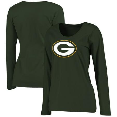 Green Bay Packers NFL Pro Line Women's Plus Size Primary Logo Long Sleeve T-Shirt - Green](Green Bay Packer Logo)