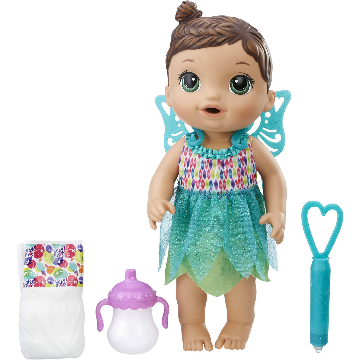 Baby Alive Face Paint Fairy - Brunette Hair