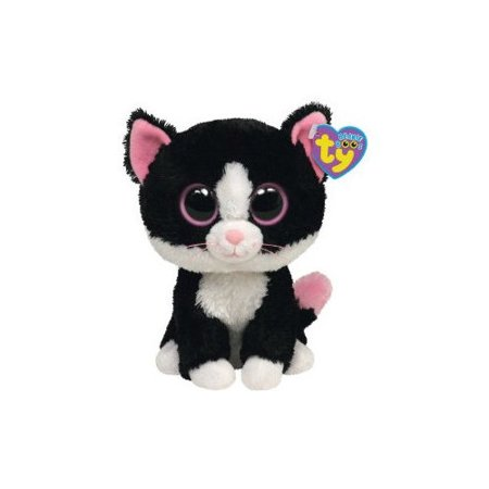 9bab7b5a83b TY Beanie Boos - PEPPER the Black   White Cat (Glitter Eyes) (Regular Size  - 6 inch) - Walmart.com