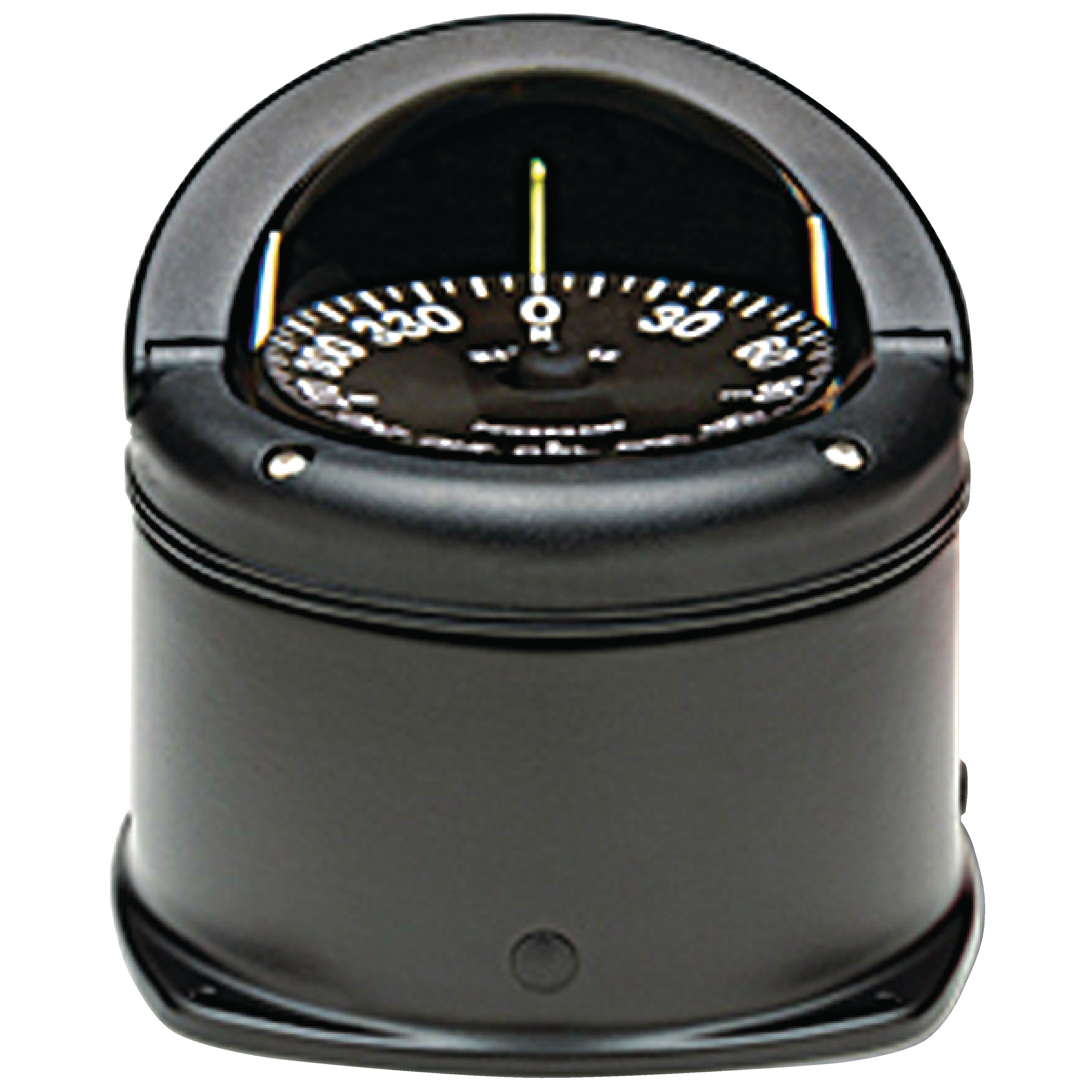 Ritchie HD744 Helmsman Black Flat Dial Boat Compass with Green Light & Deck Mount by E.S. Ritchie & Sons Inc.