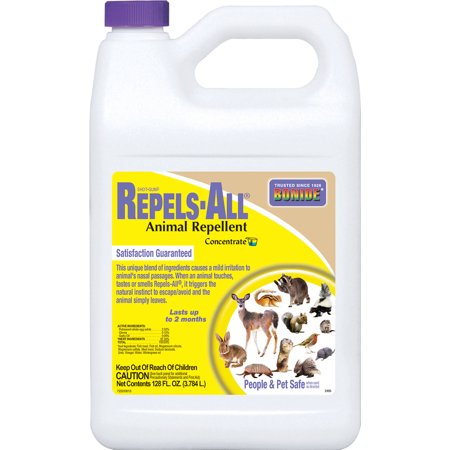 BONIDE PRODUCTS INC Repels-All Animal Repellant, Concentrate, 1-Gal. 2405