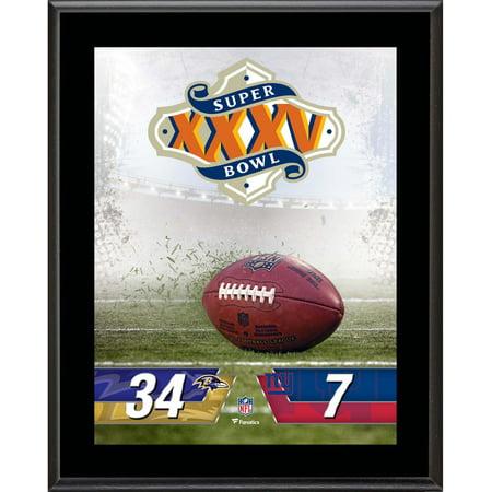 Baltimore Ravens vs. New York Giants Super Bowl XXXV 10.5