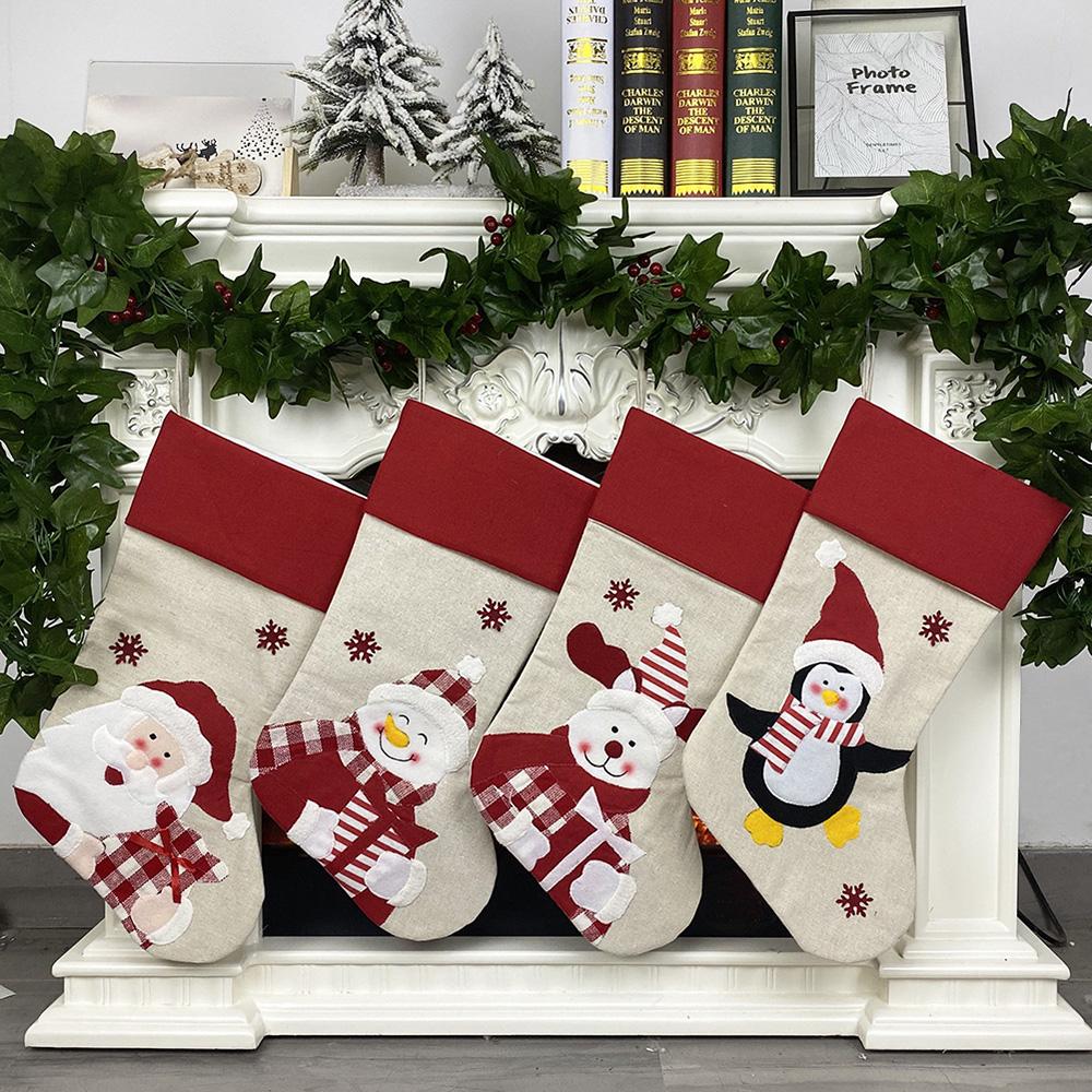 Santa Claus fabric stocking