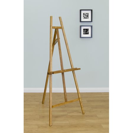 Studio Designs Museum Easel for Painting and Displaying Art in Natural Wood](Wood Easel)