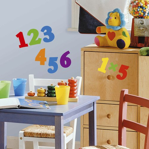 Wallhogs Primary Numbers Wall Decal