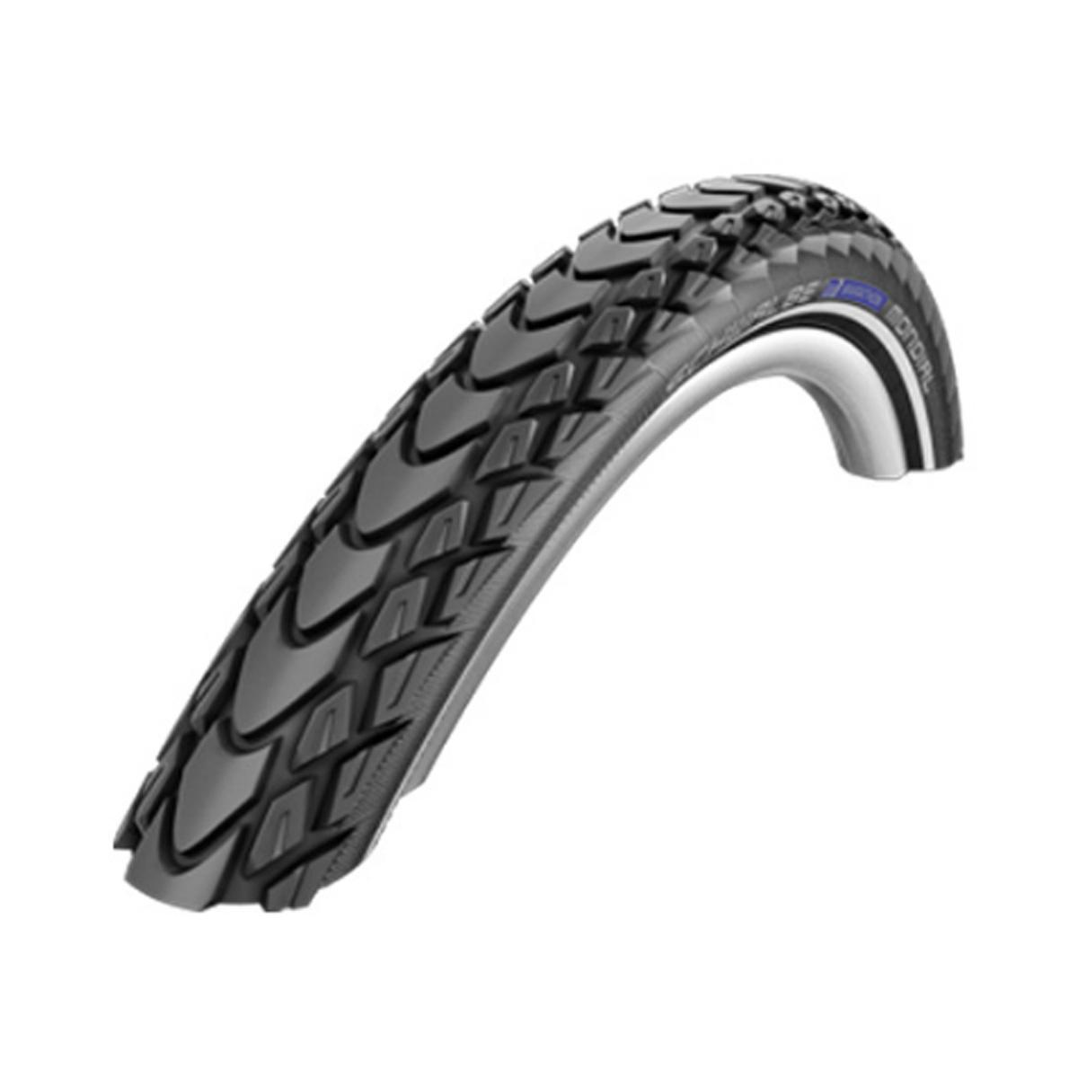 Schwalbe Marathon Mondial HS 428 RaceGuard City/Touring Bicycle Tire - Wire Bead - Black-Reflex