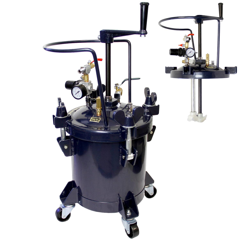 2-1/2 Gallon PRESSURE FEED PAINT POT TANK Spray Gun Sprayer Regulator Agitator