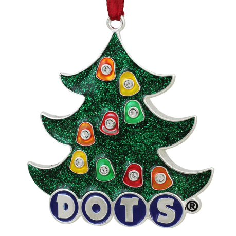 3 silver plated dots candy logo christmas tree ornament with european crystals - European Christmas Tree