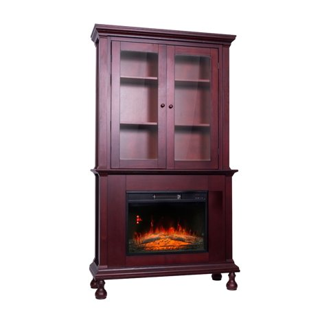 Decor Flame Electric Fireplace with 67inch High Mantle