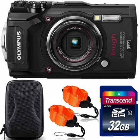 Olympus Digital Camera Skin - Olympus Tough TG-5 Waterproof Digital Camera Black With Premium Accessory Kit