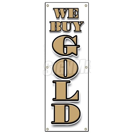 72  We Buy Gold Vertical Banner Sign Pawn Jewelry Store Cash Silver Best Price