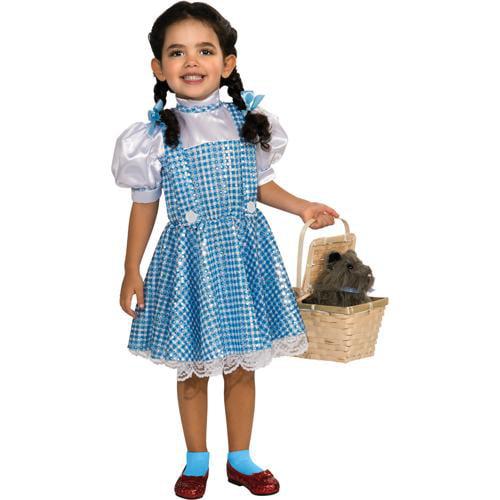 Girls Dorothy Sequin Halloween Costume size Large 12-14