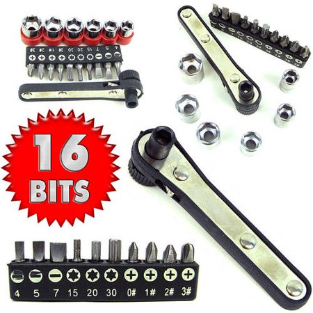 stalwart 17 piece deluxe mini ratchet screwdriver socket set. Black Bedroom Furniture Sets. Home Design Ideas