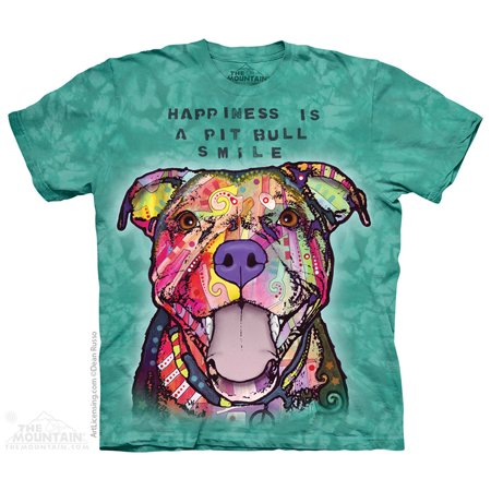 - Blue Cotton Pit Bull Smile Animal Message Novelty Adult T-Shirt