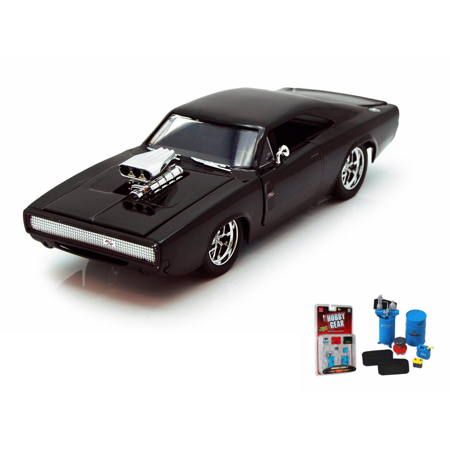 Diecast Car Garage Diorama Package Doms 1970 Dodge Charger Rt