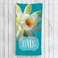 Water Lily Personalized Beach Towel