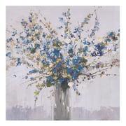 Patton Wall Decor Blue Bouquet Floral Canvas Art