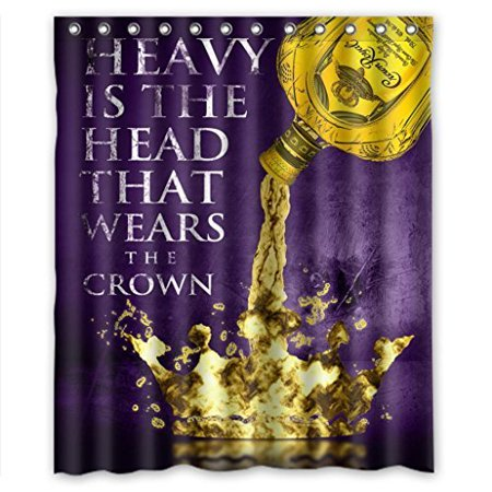 Crown Royal Drink (Ganma Special Drink Crown Royal Durable Shower Curtain Polyester Fabric Bathroom Shower Curtain 60x72 inches )