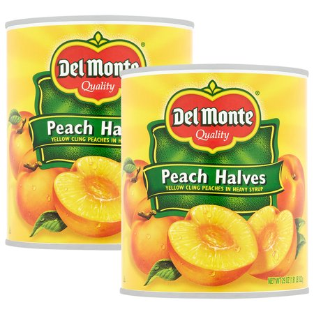 (2 Pack) Del Monte Peach Halves Yellow Cling Peaches In Heavy Syrup, 29 (Using Half And Half Instead Of Heavy Cream)