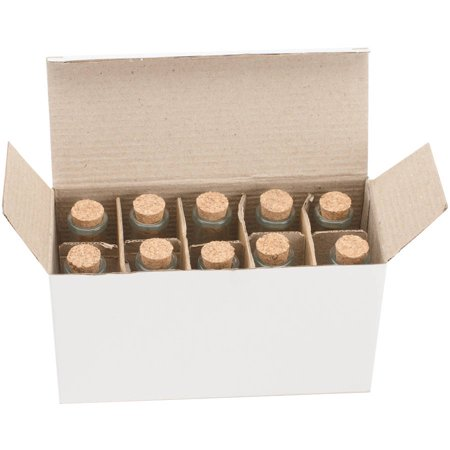 Mini Glass Bottles with Cork, 40ml, 10pk, 4
