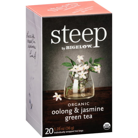 (3 Pack) Steep, Organic Oolong & Jasmine, Tea Bags, 20 (Best Oolong Tea Brand)