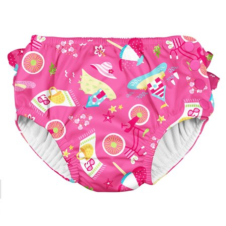 Iplay Baby Girls Ruffle Swimsuit Pool Approved Absorbent