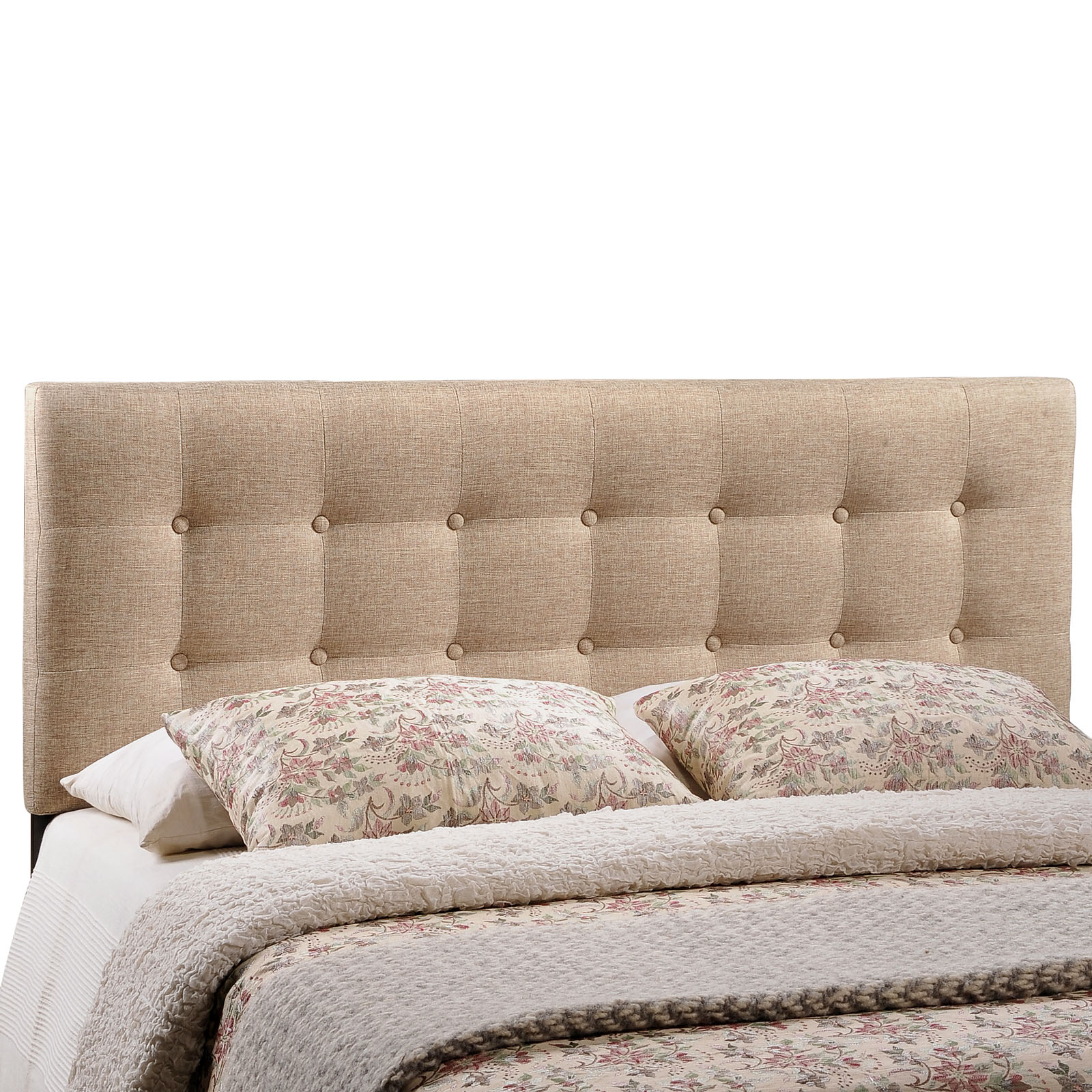 Modway Emily Tufted Button Headboard, Multiple Sizes and Colors