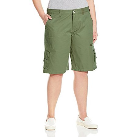 Dickies Women's Plus Size 11-Relaxed Cargo Short, Rinsed Grape Leaf, ...