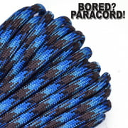 Bored Paracord Brand 550 lb Type III Paracord - Abyss 100 Feet