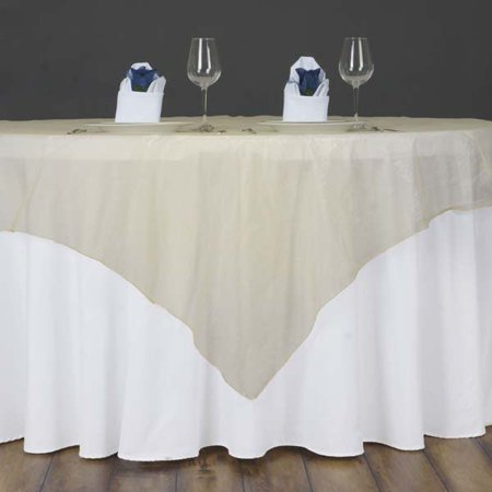 Efavormart Pack of 5 Organza Table Overlay 60